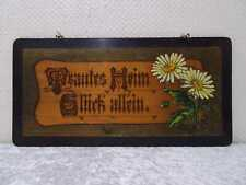 Antiker Holz Haussegen Schild mit Spruch Vintage um 1900 - Handgefertigt - 45 cm