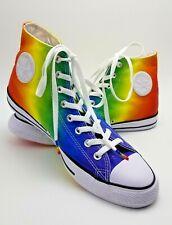 Converse Rainbow Gay Pride High Top Sneakers Mens 10.5 Ladies 12.5 LGBTQ