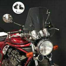 """Motorcycle Custom Blade Clear Fly Screen with Black Fittings for 7/8"""" Bars"""