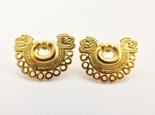 New Women Fashion Jewelry 24k Gold Plate Pre-Columbian Stud Nose Ring Earrings