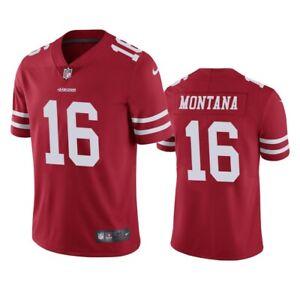 Joe Montana #16 San Francisco 49ers Men's Red Jersey
