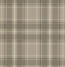 Fine Decor- Caledonia Tartan Tan - Taupe - Oxford Collection - Wallpaper FD21226