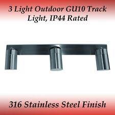 3 Light Bar Adjustable 316 Marine Grade Stainless Steel GU10 External Wall Light