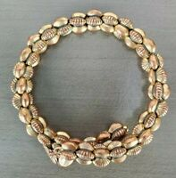 "ALEX and ANI Vintage 66 ""Groove"" Beaded Expandable Wrap Bracelet Gold-Tone"
