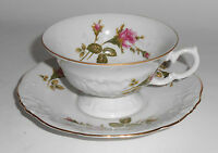Wawel China Porcelain Roses W/Gold Band Cup/Saucer Set