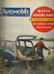 L'AUTOMOBILE 125 1956 SIMCA MARLY RENAULT DOMAINE SAAB 93 RUMI FORMICHINO GP ALL
