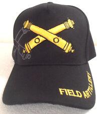 MILITARY CAP U.S. ARMY  FIELD ARTILLERY  BLACK HAT