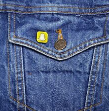 Snapchat Logo Mini Pin - Metal Lapel Badge - Social Network - Button Snap Chat