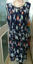 MATTHEW WILLIAMSON PLEATED BUTTERFLY PRINT DRESS SIZE 14 NEW SUIT A WEDDING