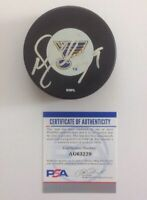 Doug Weight PSA Authenticated Hand Signed St. Louis Blues Puck