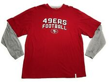 San Francisco 49ers Mens Long Sleeve Synthetic Storm Shirt Red Big /& Tall Sizes