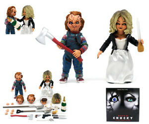 """NECA Bride OF Chucky 4"""" ULTIMATE Chucky & TIFFANY Action Figure 2 PACK Toy Gift"""