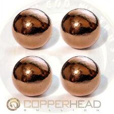"4 x 4oz Copper Bullion Spheres (1 lb Pound) 1 1/8"" 28mm Native Energy Therapy"