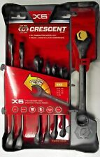 Crescent CX6RWS7 7pc X6 Ratcheting Open-End & Static Box-End Combination Wrench