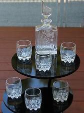 Whiskey Ensemble Karaffe mit 6 Gläser - Hochwertiges Kristallglas geschliffen !!