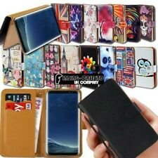 Leder Etui Karte Ständer Flip Case Cover Für Verschiedene Samsung Galaxy Handys