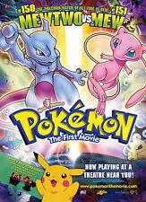 Pokémon La Primera Película cartel impresión.. A3 260gsm