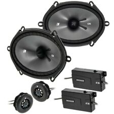 "KICKER 46CSS684 6x8 (5""x7"") inch Component Speaker System"