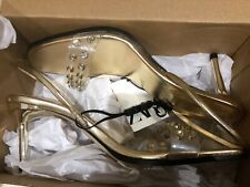 Zara Gold Shoes Size 39 Sold Out STUNNING New In Box