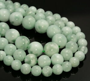 Genuine Natural Green Moonstone Gemstone AAA Round 4mm 6mm Loose Beads (A252)