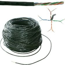 100m CAT5e Ethernet rete LAN UTP RJ45 Cavo Bobina/tamburo-rame Esterno esterno