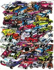 HOT WHEELS REDLINES ART PRINT 442 OLDS CHARGER CORD BYE FOCAL AND PLENTY MORE