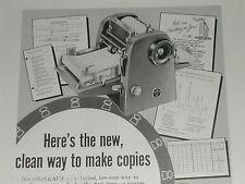 1955 A. B. Dick ad, Azograph Duplicator copy mimeograph
