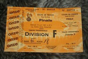 le Ticket entier )) SEC BASTIA V ST ETIENNE ASSE - finale Coupe de France 1981