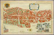 LONDRES -PLAN COULEUR QUARTIER BISHOP-GATE WARD - BLAKISTON 1754 -LONDON ENGLAND