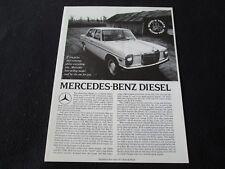 1971 Mercedes Benz W114 W115 220 D Diesel Brochure 220D Orig Reprint Catalog