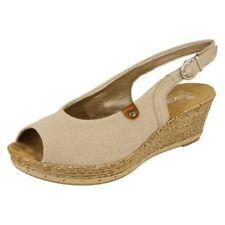 Sandali e scarpe grigio zeppa Rieker per il mare da donna
