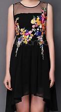 No Pattern Tall Asymmetric Sleeveless Dresses for Women