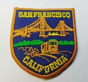 VINTAGE SOUVENIR TOURIST PATCH # BADGE SAN FRANCISCO CALIFORNIA