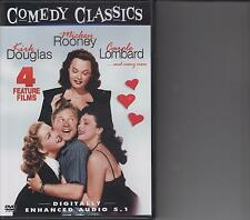 Comedy Classics DVD 4 Feature Films! Douglas, Rooney, Lombard and many more!