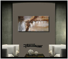 ABSTRACT CANVAS PAINTING MODERN WALL ART Framed Signed Contemporay US ELOISExxx
