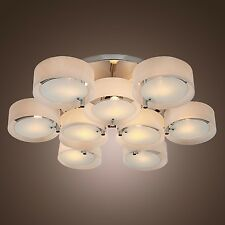 110V Contemporary Acrylic Metal Pendant Light Ceiling Lamp Chandelier Lighting