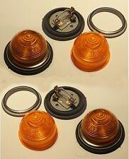 4 Flush Fitting Beehive Amber Indicator/Flasher lights 21 watt 12 volt 12v 21w