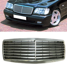 For Benz W140 S500 S600 S320 S350 1991-1998 Front Grill Grille Stripes Mesh