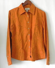 Ryan Michael Western Shirt Silk Blend Long Sleeve Snap Size S