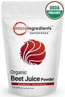 Micro Ingredients Premium Organic Red Beet Root Juice Powder 1 Pound