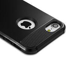 For iPhone 6 6S 8 7 Plus X Case Heavy Duty Hybrid Hard Shockproof Rubber Slim BK