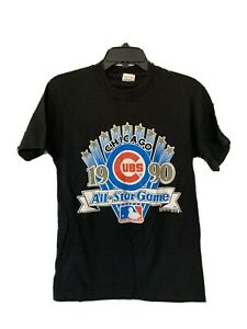 Vintage Rare Chicago Cubs 1990 All Star Game Single Stitch USA Tag Youth Size S