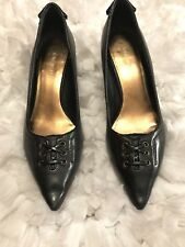 Nine West Pointed-Toe Classic Pumps Black Leather, Size 8M