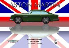 Print on Canvas Aston Martin DB5 1963 - 1965 Green / Union Jack Version 100 x 75