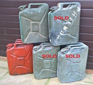 BRITISH ARMY WAR DEPARTMENT FUEL CAN / JERRY CAN X1
