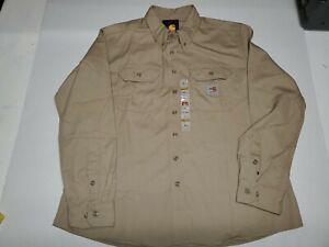 Carhartt WFRS160KHI Women's Flame Resistant Twill Shirt Size XL Regular (16/18)