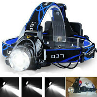 Zoomable 90000LM T6 LED Headlamp Headlight Flashlight Head Torch Camping Lamp RD