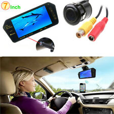 "7"" HD Bluetooth MP5 Car Rearview Mirror Monitor + Car Reverse Backup Camera Kits"