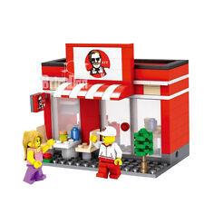 Ladrillos De Construcción Compatible comida rápida KFC Estilo Libre Lego pieza frontal de tienda