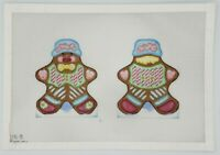 Hand Painted Needlepoint Canvas GINGERBREAD by Melissa Shirley ~ 18 CT Christmas